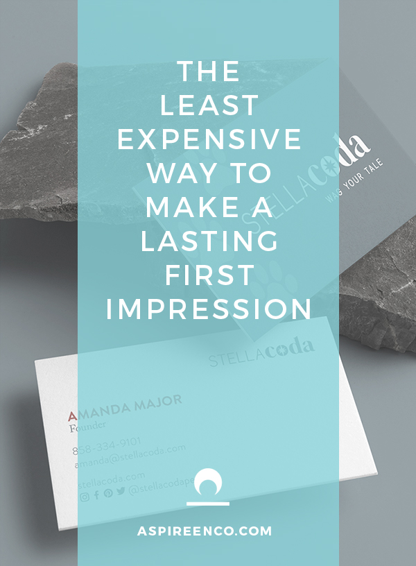 The least expensive way to make a lasting first impression